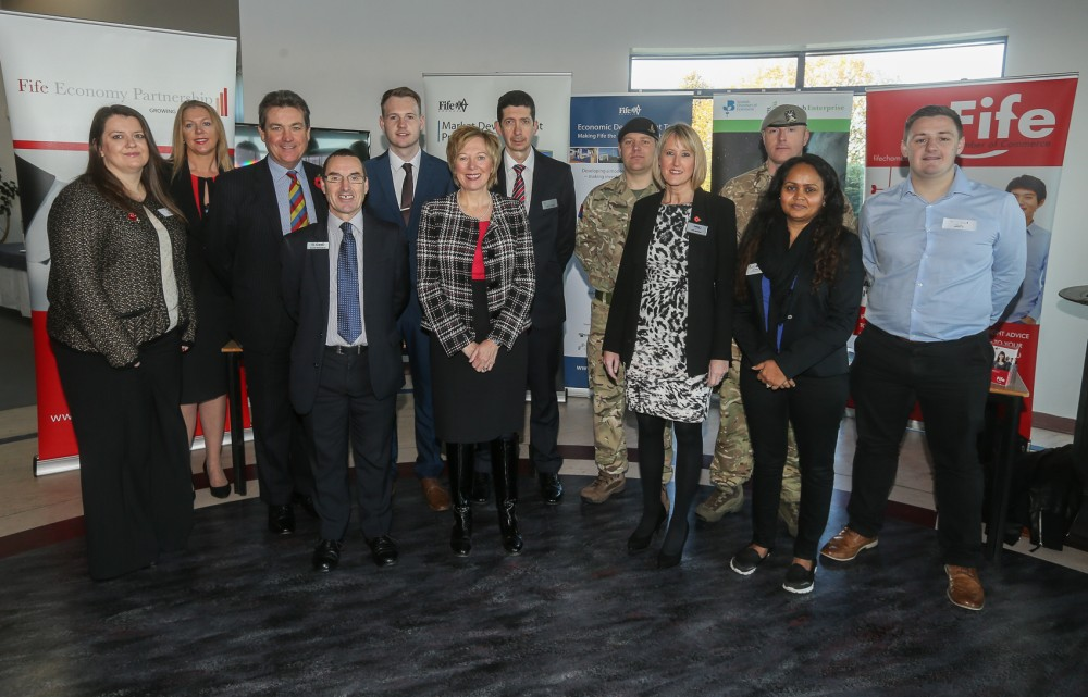 Participants at one of the 30 Fife Business Week events