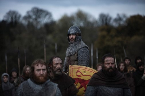 Chris Pine as Robert the Bruce in Outlaw King. Credit: Netflix/David Eustace